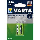 Baterije AAA punjive 550mAh Varta Professional, 1/2